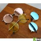 [ D ] Tint Round Mirror Sunglasses