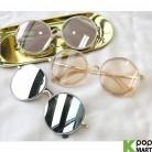 [ D ] Metal Round Fashion Sunglasses
