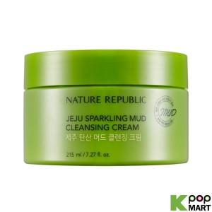 NATURE REPUBLIC Jeju Sparkling Mud Cleansing Cream 215ml