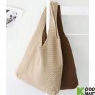[ D ] Hand Knit Basket Bag