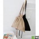 [ D ] Knit String Bucket Bag