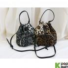 [ D ] Leopard Fur Bokjori Cross Bag